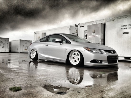 honda civic si coupe 2012 slammed lowered flush fitted stance coilovers static daily driven ksport kontrol pro