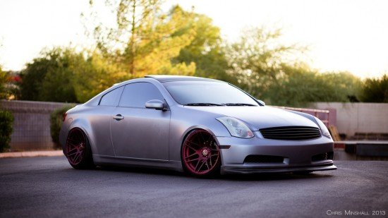 Front view of G35 Coupe