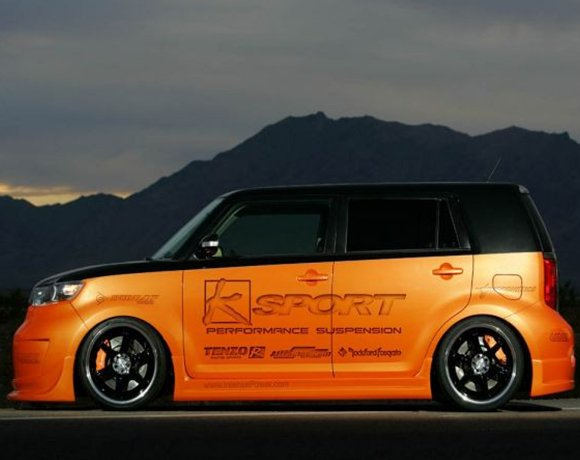 Slammed-Scion-xB-Coilovers