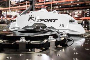 Custom Painted Brake Caliper and Rotor