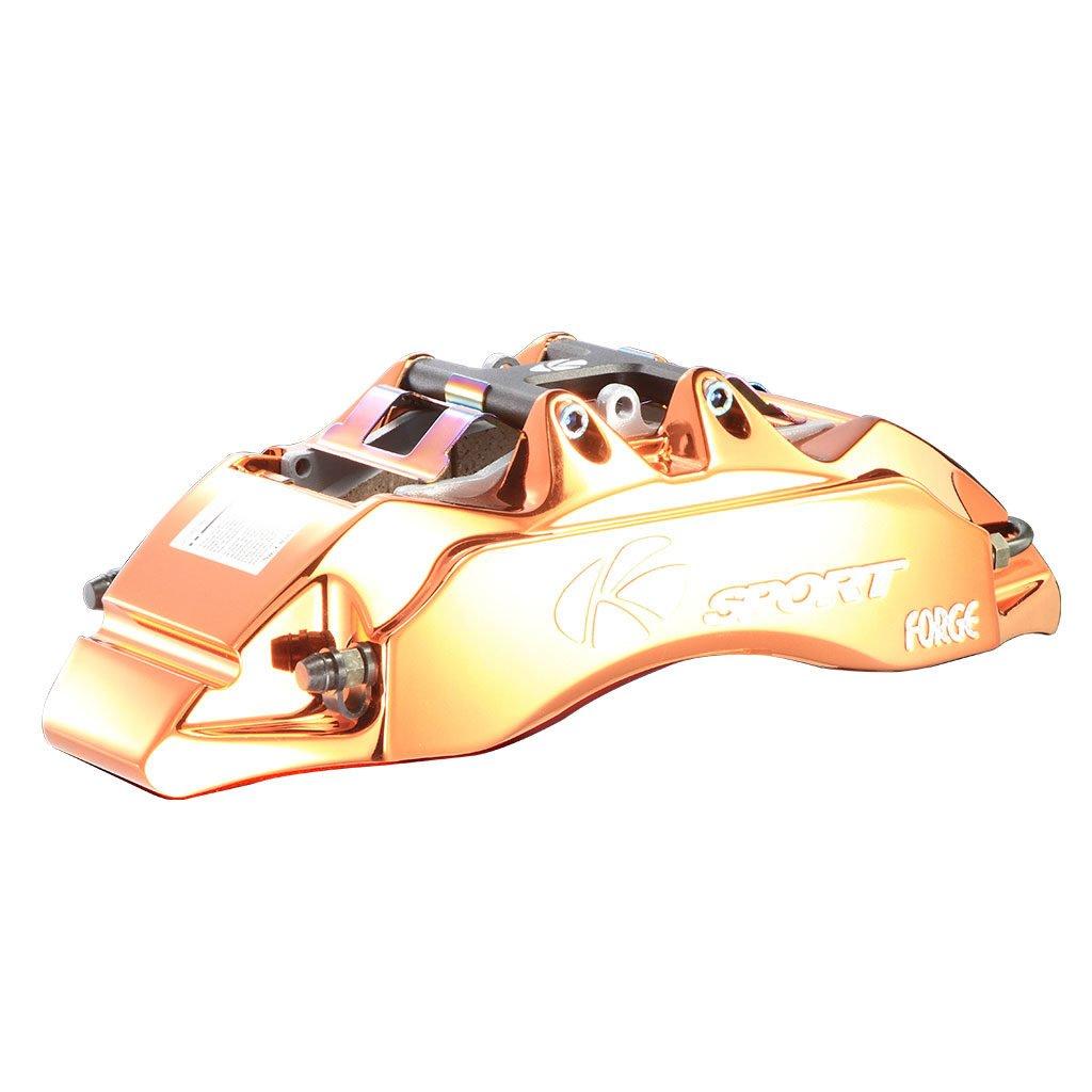 Glassy Orange Brake Caliper