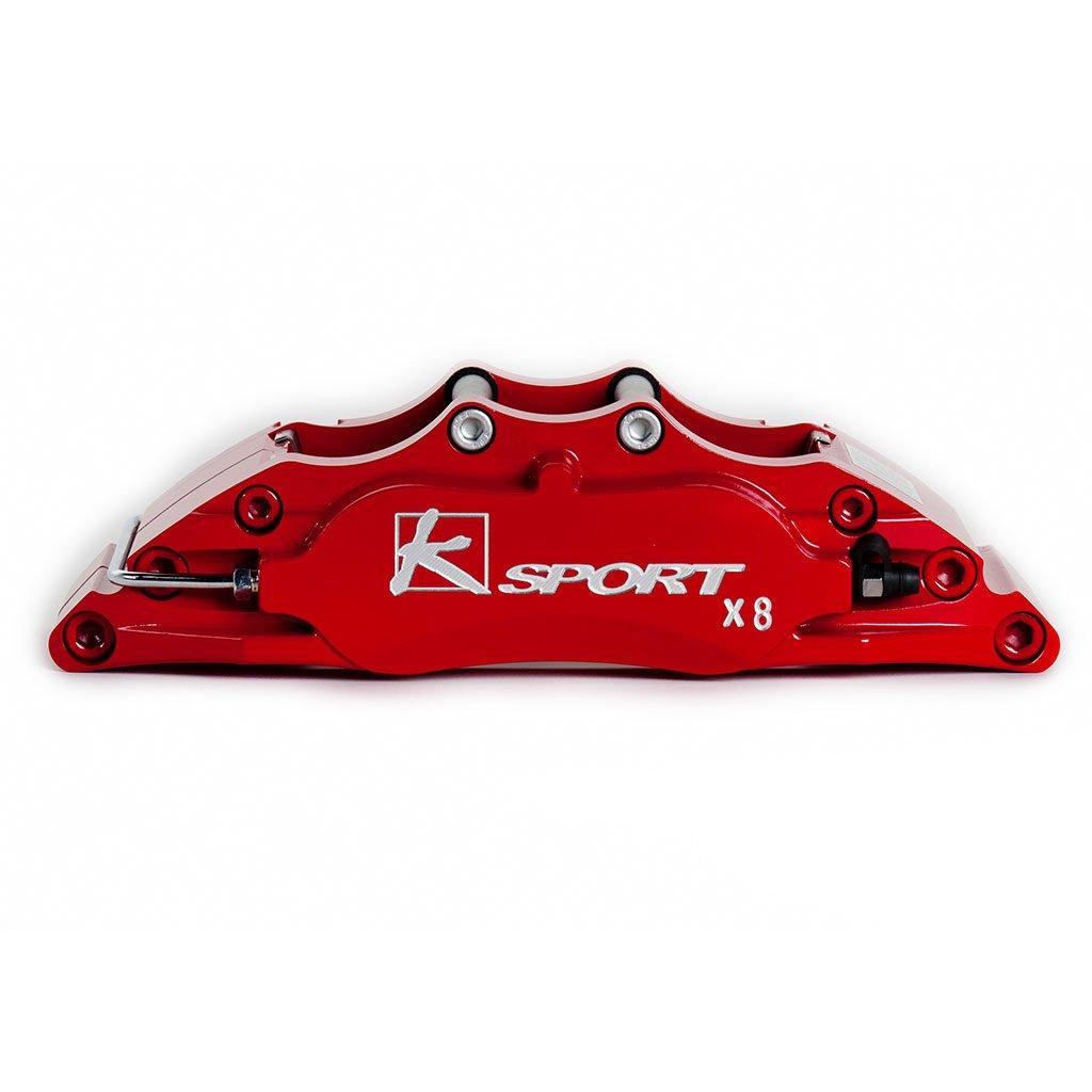 Painted Red Brake Caliper